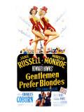 Gentlemen Prefer Blondes, Jane Russell, Marilyn Monroe, 1953 Foto