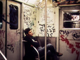 1970s America, Graffiti on a Subway Car, New York City, New York, 1972 Foto
