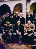 The Yalta Conference, Joseph Stalin, Franklin D. Roosevelt, Winston Churchill, February, 1945 Photo