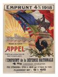 World War I Poster Features a Statue of a Mounted Joan D'Arc, Paris, 1918 Foto