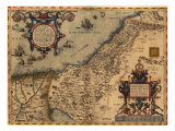 1570 Map of Palestine, from Abraham Ortelius' Atlas Fotografia