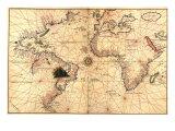 1544 Carte Nautique de l'Océan Atlantique Photographie