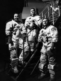 The Crew for the Apollo 8 Spacecraft: James A. Lovell Jr., William A. Anders, Frank Borman, 1968 Foto