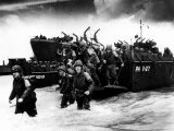 American Soldiers Landing in Normandy, France, 1944 Foto