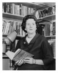Rachel Carson, Biologist and Writer, Holding Her Ground Breaking Book, the Silent Spring, 1963 Photo