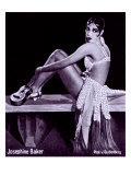 Josephine Baker, African American Dancer and Actress in a Seductive Pose, 1920's Foto