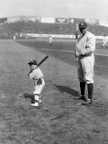 Babe Ruth and Mascot, 1922 Photo
