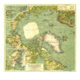 1925 Arctic Regions Map Poster von  National Geographic Maps