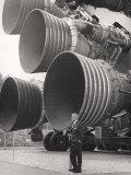 Wernher Von Braun, Standing by Five F-1 Engines, 1960s Photo