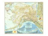 1956 Alaska Map Plakater av  National Geographic Maps