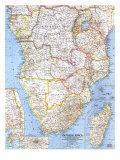 1962 Southern Africa Map Láminas por  National Geographic Maps