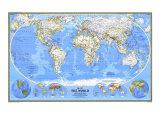 1988 World Map Plakater av  National Geographic Maps