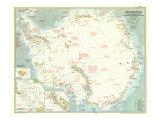1957 Antarctica Map Giclée-Premiumdruck von  National Geographic Maps