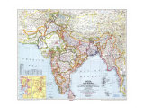 1946 India and Burma Map Pôsters por  National Geographic Maps