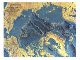 1971 Arctic Ocean Floor Map Premium Giclee-trykk av  National Geographic Maps