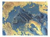 1971 Arctic Ocean Floor Map Poster von  National Geographic Maps