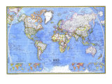 1975 Political World Map Posters par  National Geographic Maps