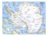 1963 Antarctica Map Giclée-Premiumdruck von  National Geographic Maps