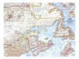 1967 Eastern Canada Map Giclée-Premiumdruck von  National Geographic Maps