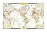 1951 World Map Plakater av  National Geographic Maps