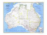 1979 Australia Map Giclée-Premiumdruck von  National Geographic Maps