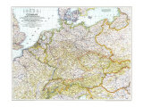 1944 Germany and Its Approaches 1938-1939 Map Kunstdrucke von  National Geographic Maps