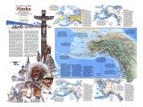 1984 The Making of America, Alaska Theme Poster av  National Geographic Maps