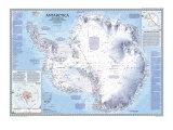 1987 Antarctica Map Giclée-Premiumdruck von  National Geographic Maps