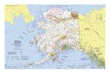 1975 Close-up USA, Alaska Map Plakater av  National Geographic Maps