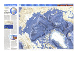 1990 World Ocean Floors, Arctic Ocean Map Premium Giclee-trykk av  National Geographic Maps