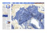 1990 World Ocean Floors, Arctic Ocean Map Poster von  National Geographic Maps