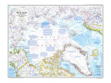 1983 Arctic Ocean Map Premium Giclee-trykk av  National Geographic Maps