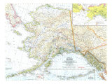 1959 State of Alaska Map Premium Giclee-trykk av  National Geographic Maps