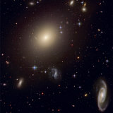 The Hubble Space Telescope reveals an array of galaxies Fotografisk tryk