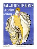 Ball im Kleid und mit weißer Stola Poster von Marcel Vertes