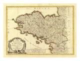 Bretagne, c.1786 Affiche par Rigobert Bonne