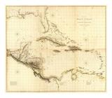Composite: West Indies, c.1810 Julisteet tekijänä Aaron Arrowsmith