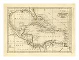 Chart of the West Indies, c.1811 Juliste tekijänä Mathew Carey