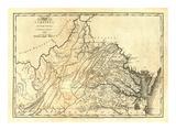 State of Virginia, c.1795 Poster av Mathew Carey
