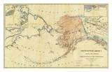 Northwestern America Showing the Territory Ceded by Russia to the United States, c.1867 Plakater av Charles Sumner