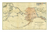 Northwestern America Showing the Territory Ceded by Russia to the United States, c.1867 Posters av Charles Sumner