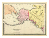 Northwestern America Showing the Territory ceded by Russia to the United States, c.1872 Posters