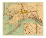 The Gold and Coal Fields of Alaska, c.1898 Plakater