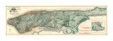 Sanitary and Topografische Karte von the City and Island of New York, c.1865 Kunstdrucke von Egbert L. Viele
