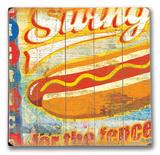 Swing for the Fences 木製看板