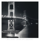 Golden Gate Nightscape Kunstdruck von Bill Voight