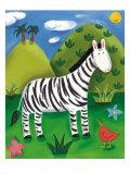 Zara, das Zebra Giclée-Premiumdruck von Sophie Harding