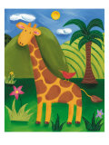 Gerry the Giraffe Premium Giclee Print by Sophie Harding