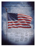 The Declaration of Independence Premium Giclée-tryk