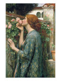 The Soul of the Rose, 1908 Premium Giclée-tryk af John William Waterhouse